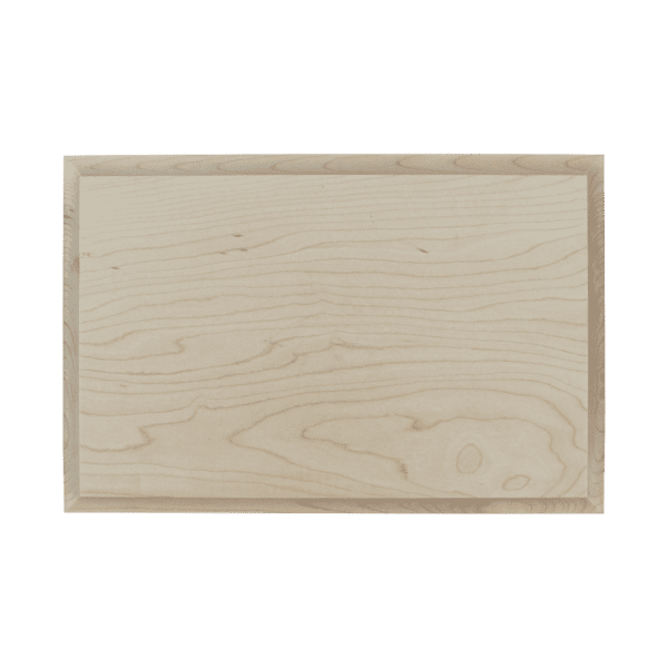 Maple Wood Plaque: Simplistic Bevel-980