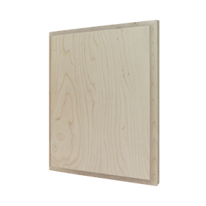 Maple Wood Plaque: Simplistic Bevel-0