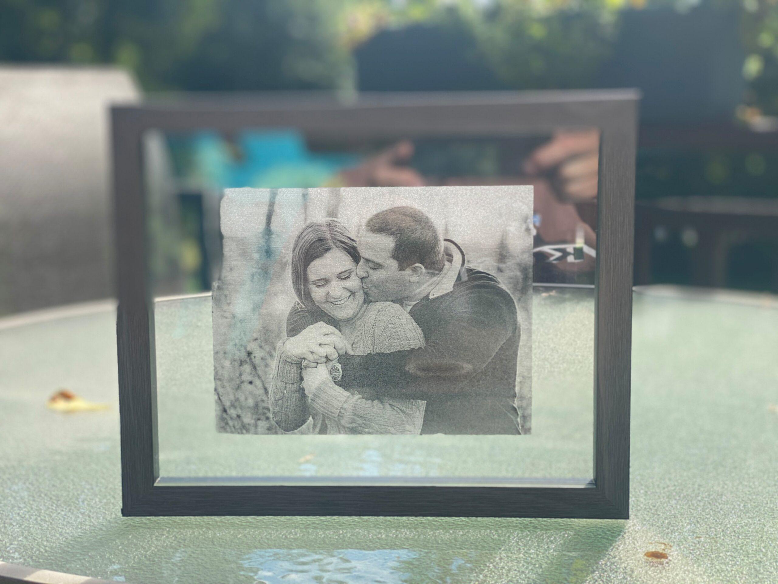 Acrylic photo of couple