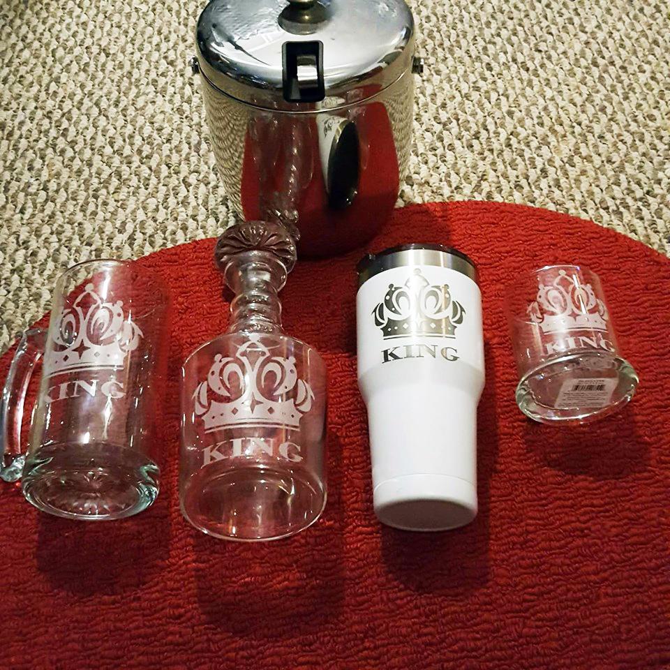 Personalized glassware set