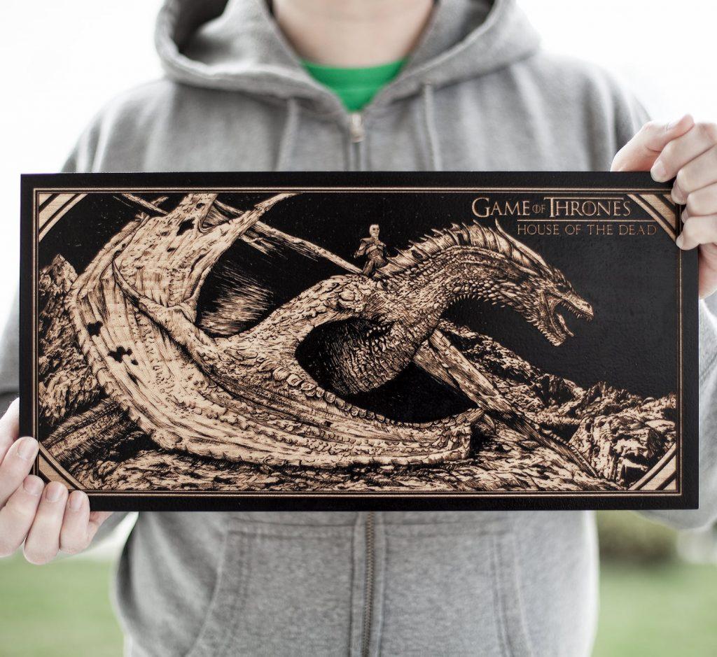 Dragon engraved