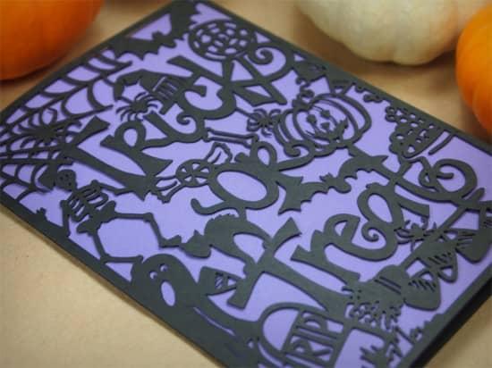 laser cut paper cards
