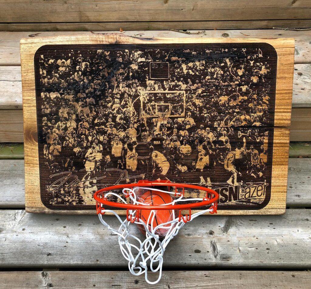 Photo Etched Basketball Hoop Backboard