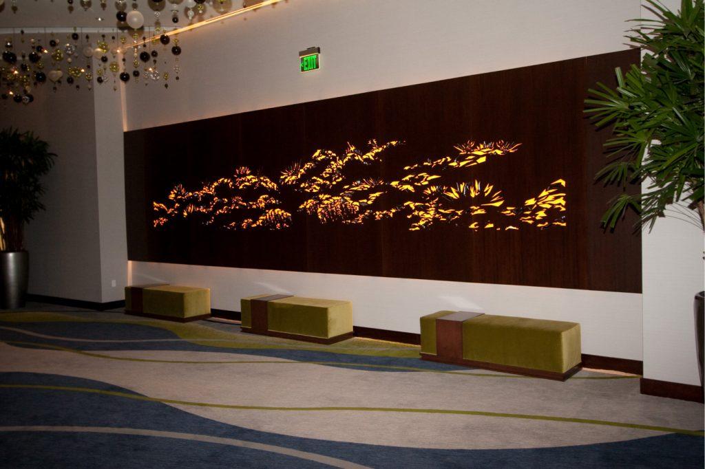 lasered backlit art