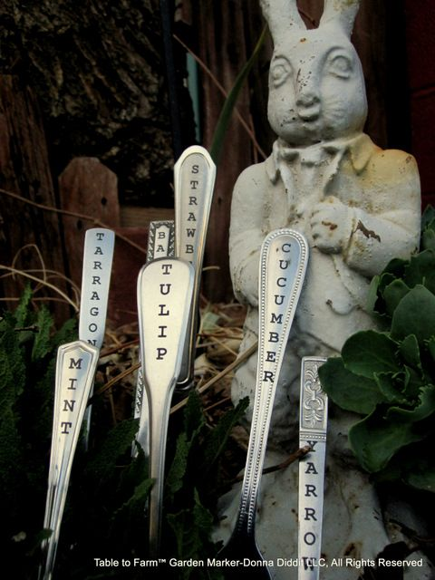 Donnadiddit laser etched garden markers:
