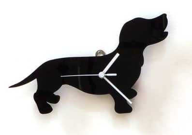 laser cut acrylic doxie clock