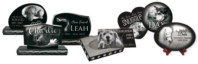laser engraved pet memorial products