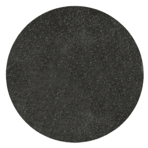 "Jet Black Granite Circle Plaque 4.9"" diameter 3/8"" Thick-0"