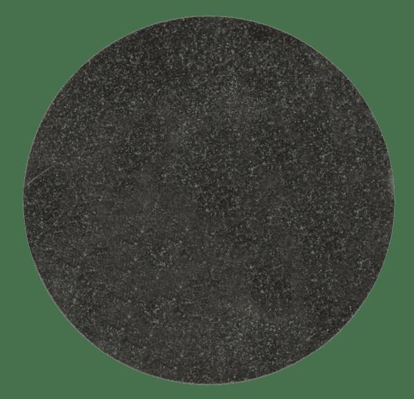 """Jet Black Granite Circle Plaque 8"""" diamter x 3/8"""" Thick-0"""