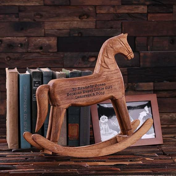 laser engraved rocking horse