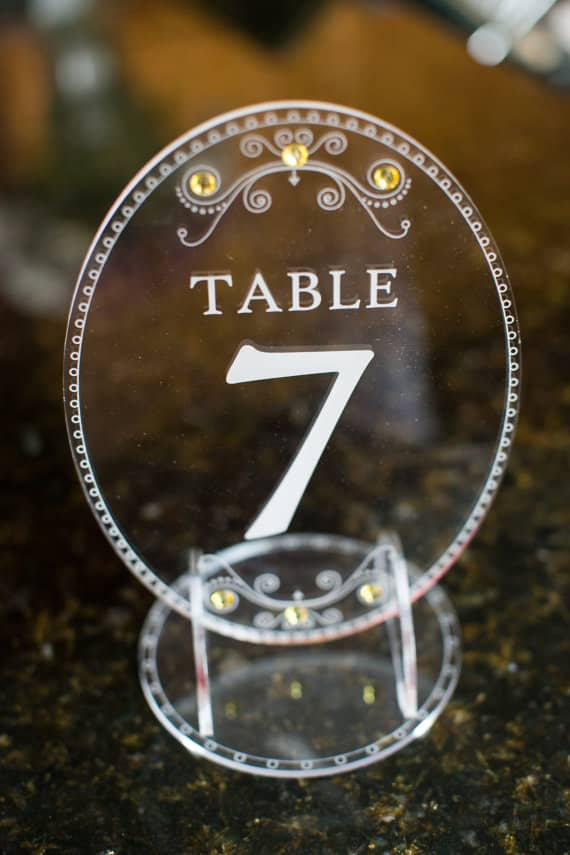 laser cut acrylic table number