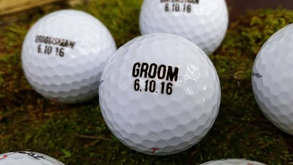 memorial keepsakes laser engraved golfballs