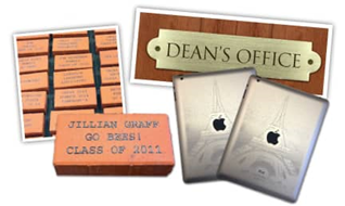 laser engraved bricks