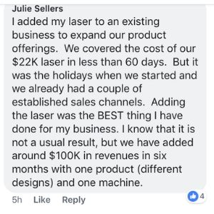 Julie Sellers facebokk comment