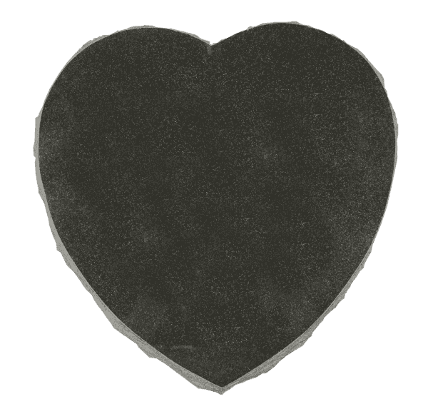 "Granite Heart Marker 2"" thick-Jet Black-Size: 8"" x 8""-0"