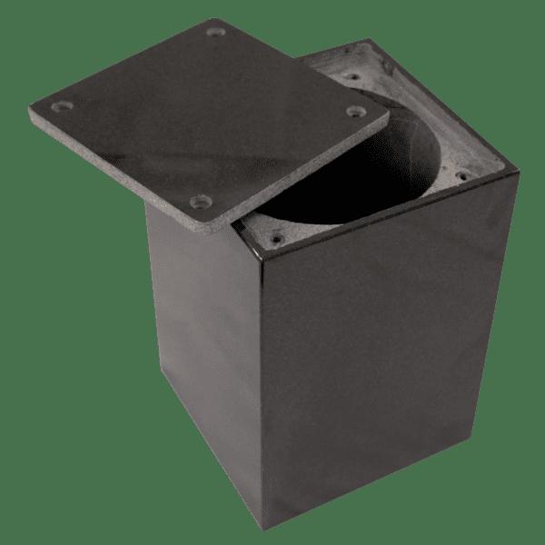 Jet Black Cremation Urn JBURN07-1105