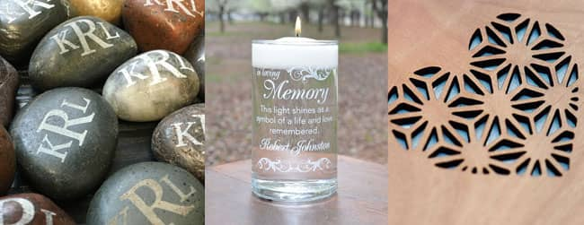 laser engraved keepsake items