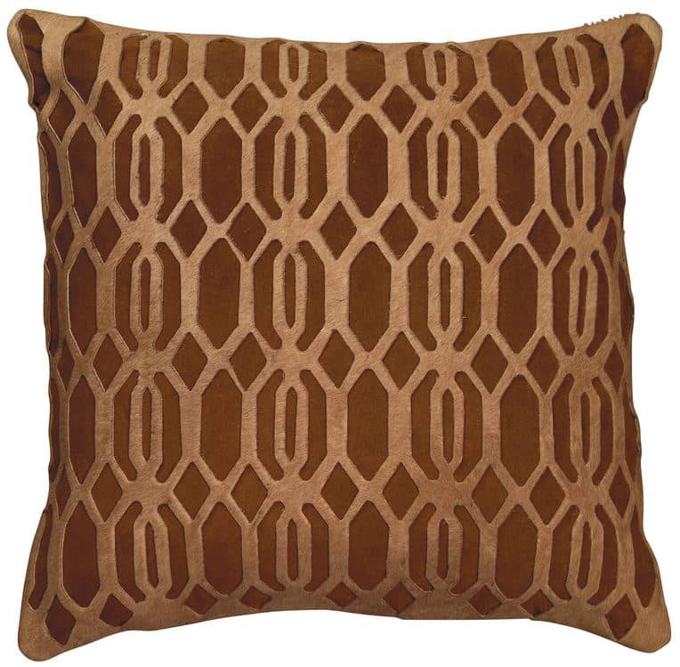 Laser Cut Leather Pillow