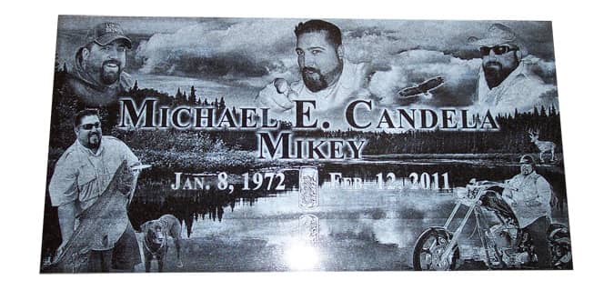 laser engraved granite