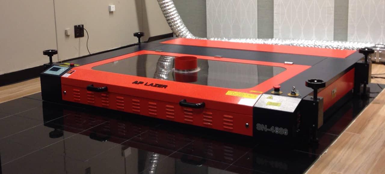 laser engraver for flooring