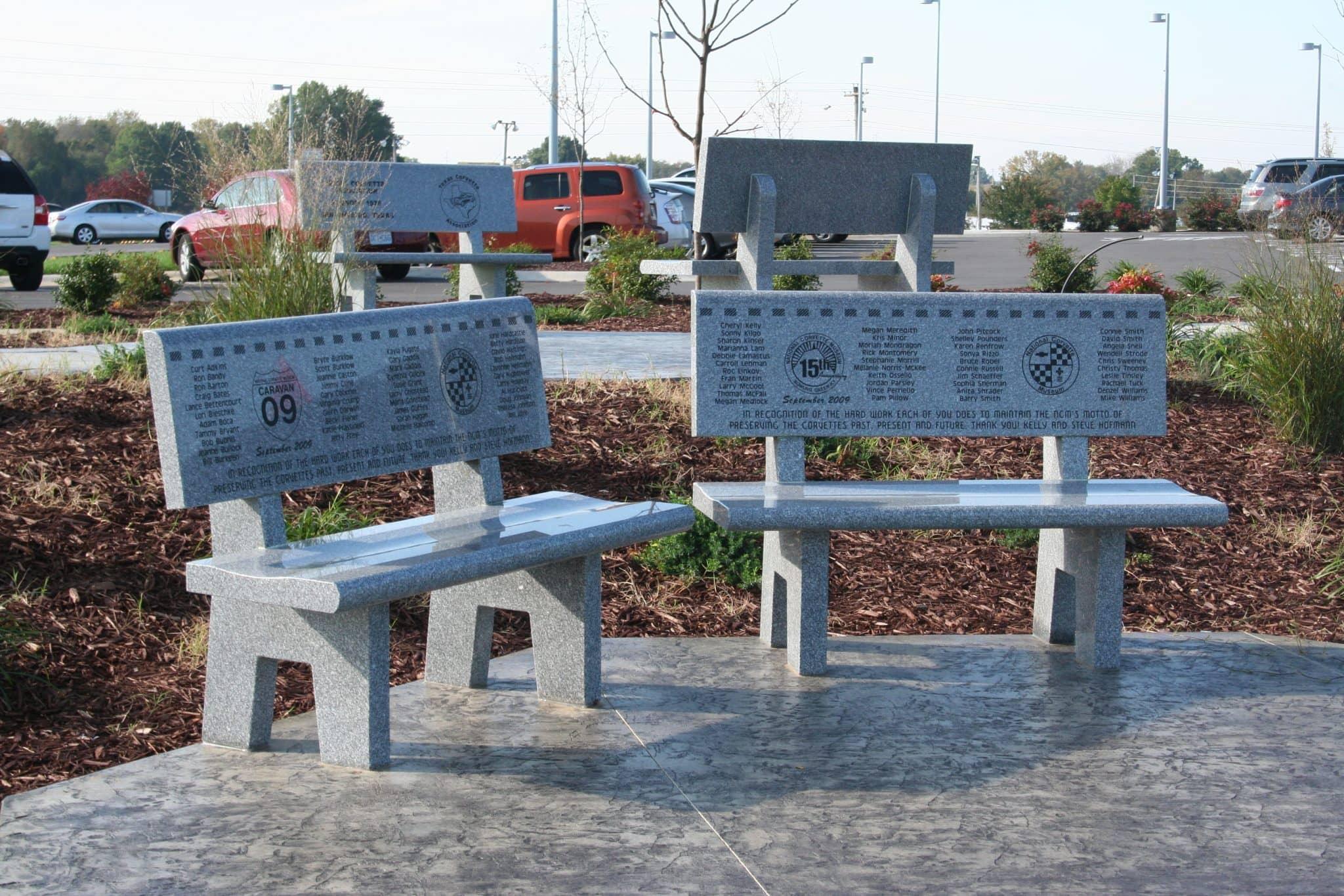 Granite buddy bench