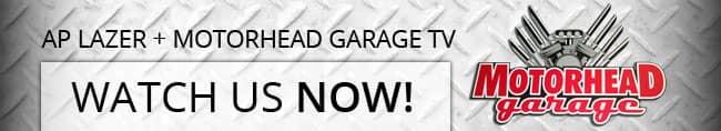 AP Lazer on motorhead garage tv