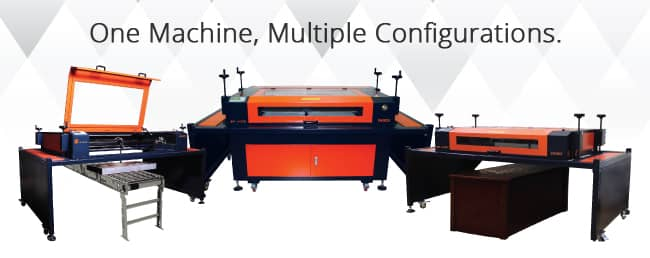 laser machine configurations