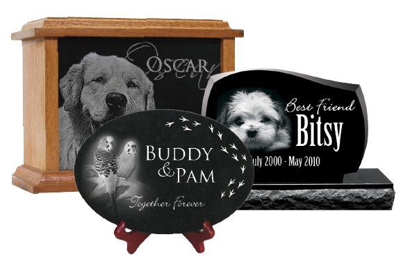 Laser engraved pet memorials