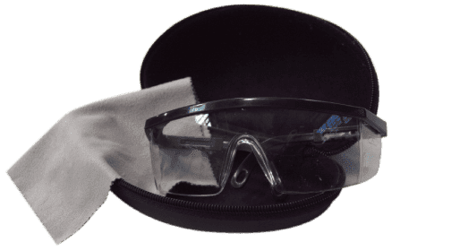 photo of safety glasses