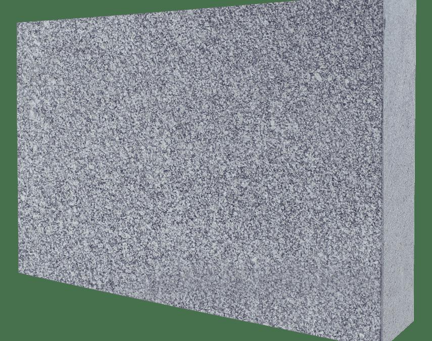 Super Gray Granite Flat Pet Marker 2″ Thick – Blank