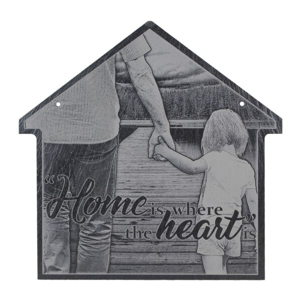 "Slate House Plaque: 12"" x 12""-1149"