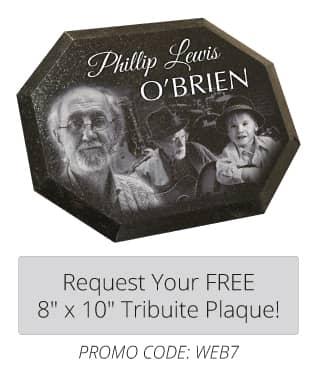 Laser Engraved Tribute Plaque