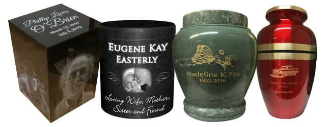 laser engraved urns