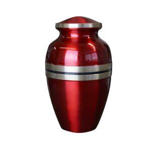 Brass Metal Urn: Classic Red-0