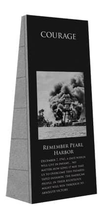 laser engraved war memorial